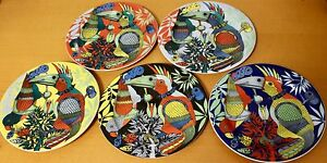 LAURA-BOPLA-Porzellan-Serie-Paradise-Salat-Dessert-Kuchen-Teller-21cm-Papagei