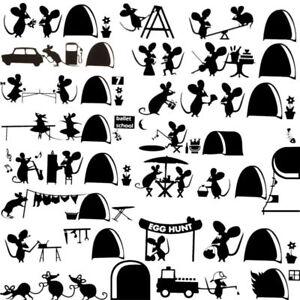 2pcs-amante-Mouse-CASA-VIAGGIO-Topi-Adesivo-Auto-Muro-Laptop-skate-surf-Decalcomania-In-Vinile