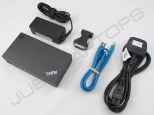 Details about Lenovo ThinkPad USB 3 0 Docking Station w/ Dual Video Display  Output Inc PSU