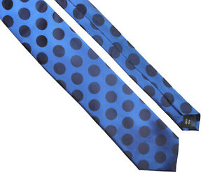 SAVILE-ROW-LONDON-Classic-Dots-Mens-Polka-Dot-Silk-Necktie-Tie-Blue-gt