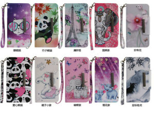 Hot-Fashion-Pattern-PU-Leather-lanyard-Wallet-Case-Flip-Stand-Cover-For-Samsung