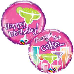 Enjoyable Happy Birthday Forget The Cake 18 Round Foil Balloon Birthday Funny Birthday Cards Online Alyptdamsfinfo