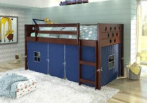 Image Is Loading Twin Circles Low Loft Bunk Bed For Boys
