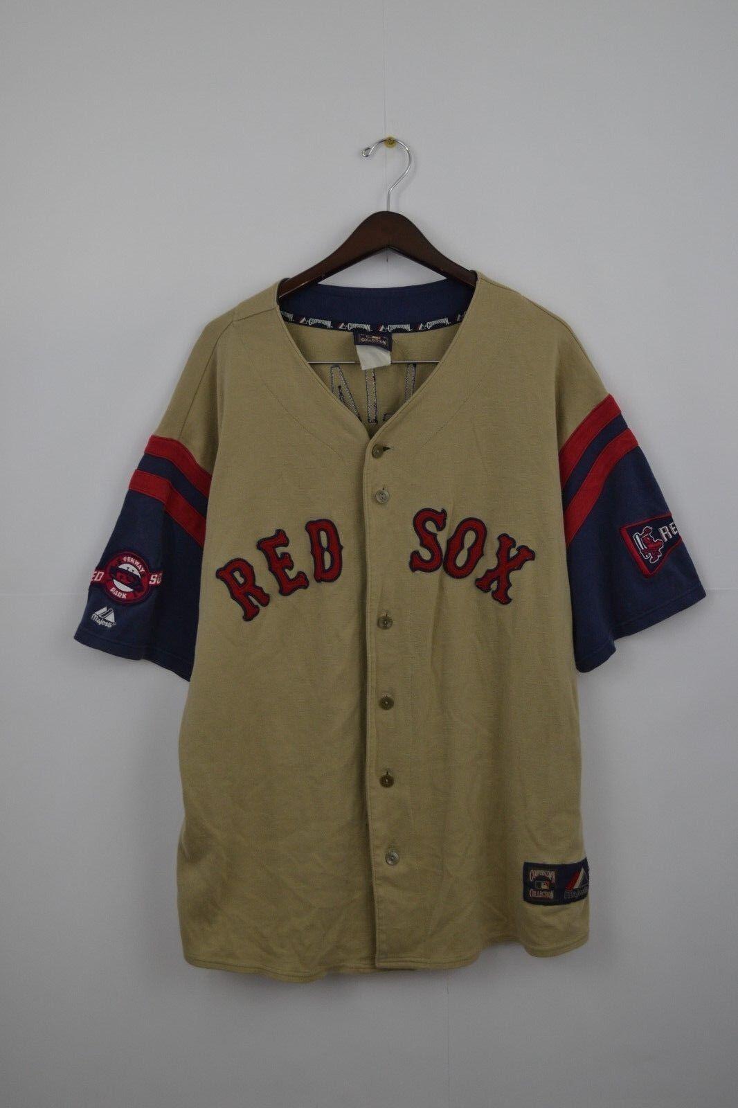 RARE williams 9 red sox majestic baseball jersey shirt vintage