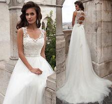 NEW White/Ivory Formal Wedding dress Bridal Gown Custom Size 4 6 8 10 12 14 16++