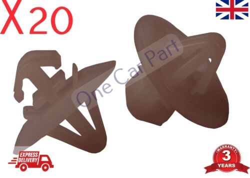 20x Plastic Clips for Vauxhall Vivaro Side Moulding//Lower Protection Door Trim