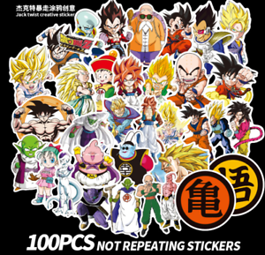 100Pcs-Lot-Anime-Dragon-Ball-Z-Super-Saiyan-Goku-Stickers-Autocollant-pour-ordinateur-portable