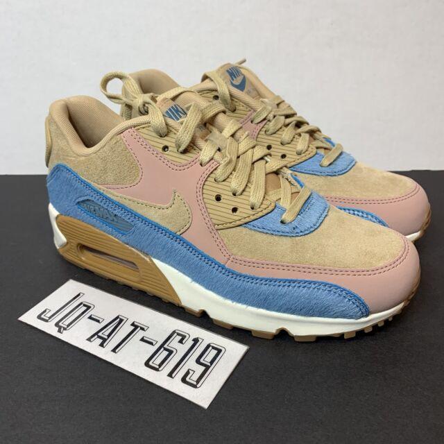 Womens Nike Air Max 90 LX Mushroom Pony Hair Multicolor Shoe 898512 200 Size 6