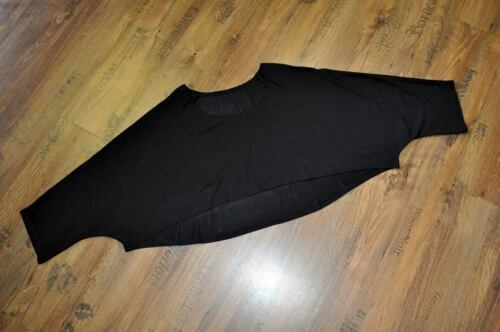 MYO Lagenlook megaweiter-BIG-Pulli-Kurz-Überwurf BLACK 44,46,48,50,52,54//XL-XXXL