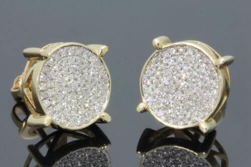 1.30 Ct Diamond Screw Back Square Stud Earrings Yellow Gold Fn Men/'s//Ladies