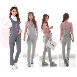 486bb23927fef Image is loading Maternity-Overalls-Pants-Pregnancy-Jumpsuits-Trousers-Cute- Comfy-