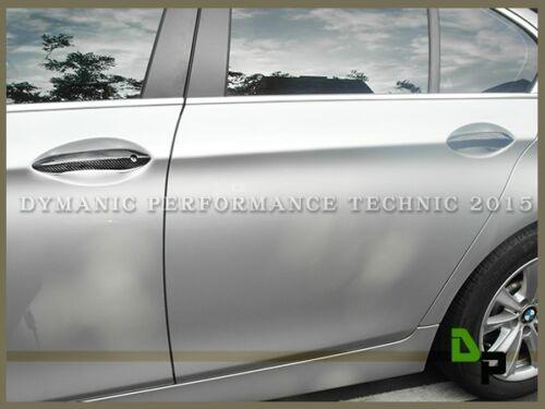 Door Handle Carbon Fiber Add-on Cover For 11-16 BMW 5-Series Sedan//Wagon//GT