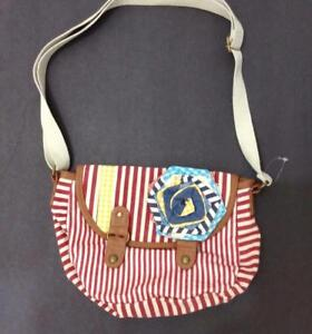 Image Is Loading American Rag Handbag Small Red White Striped Cotton