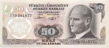 Turkije 50 Turkish Lira 1983-1987 Unc Pn-188a.2