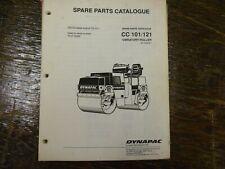 Dynapac Cc101 Cc121 Vibratory Compactor Asphalt Roller Parts Catalog Manual
