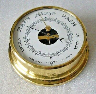Begeistert Nautisches Schiffsbarometer Barometer Messing Ø 11 Cm Maritim Hamburg #17 NüTzlich FüR äTherisches Medulla