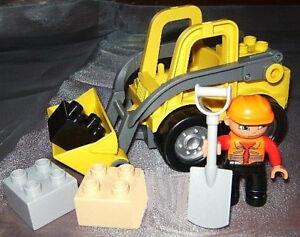 Lego-Duplo-Radlader-Baustelle-Fahrzeug-Steinbruch-Bagger-Frontlader-au-4988-5650