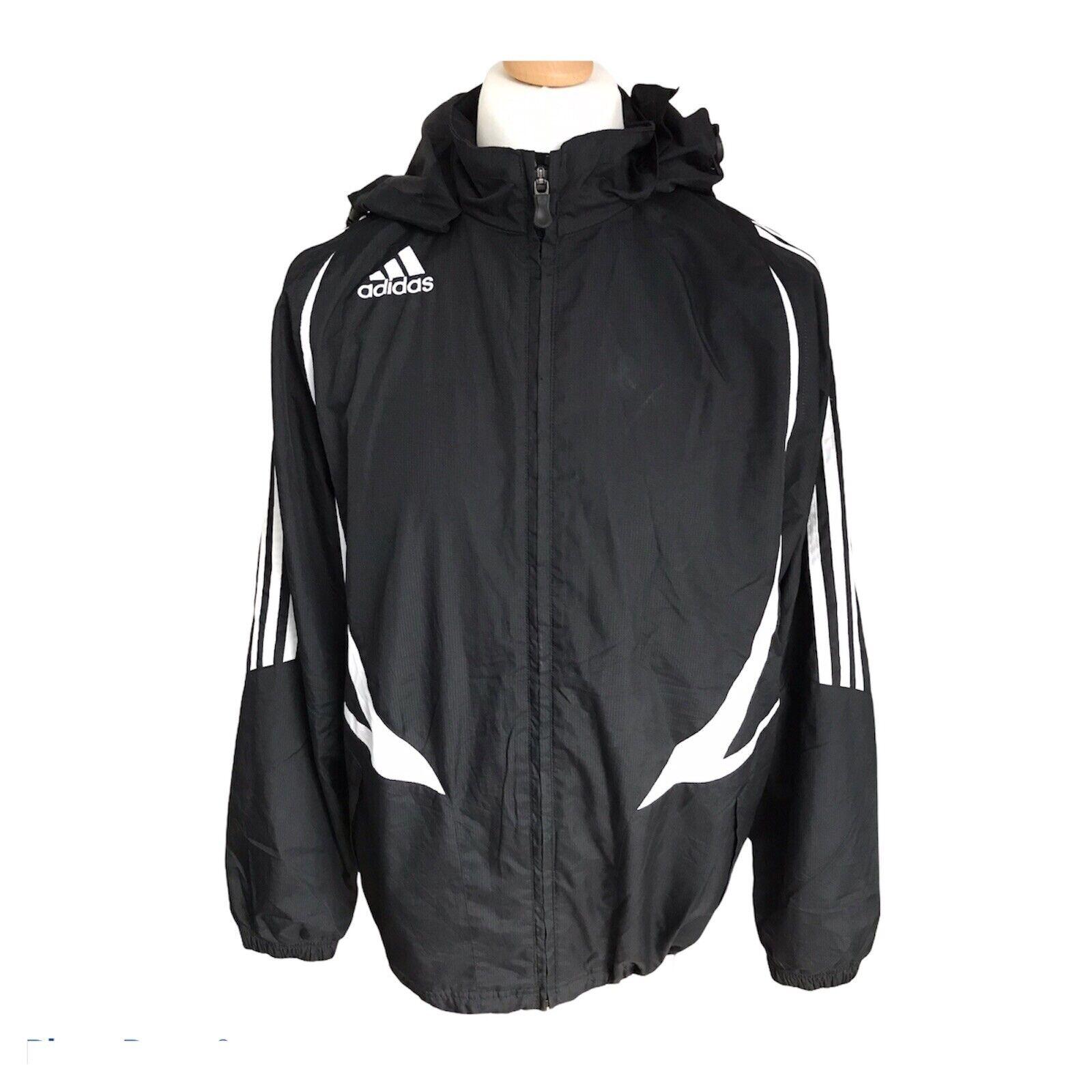 Chaqueta Negra De Fútbol Adidas UK 36/38 Academia Pequeño Adulto Excelente con de Oregon