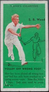 Single: No.45 S B WOOD, VOLLEY OFF WRONG FOOT - TENNIS John Player 1936