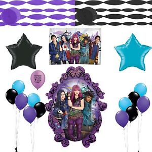 Image Is Loading Descendants 2 Birthday Party Balloon And Streamers Decoration