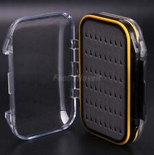 DOUBLE SIDED WATERPROOF FOAM INSERT FLY FISHING TACKLE HOOKS STORAGE BOX