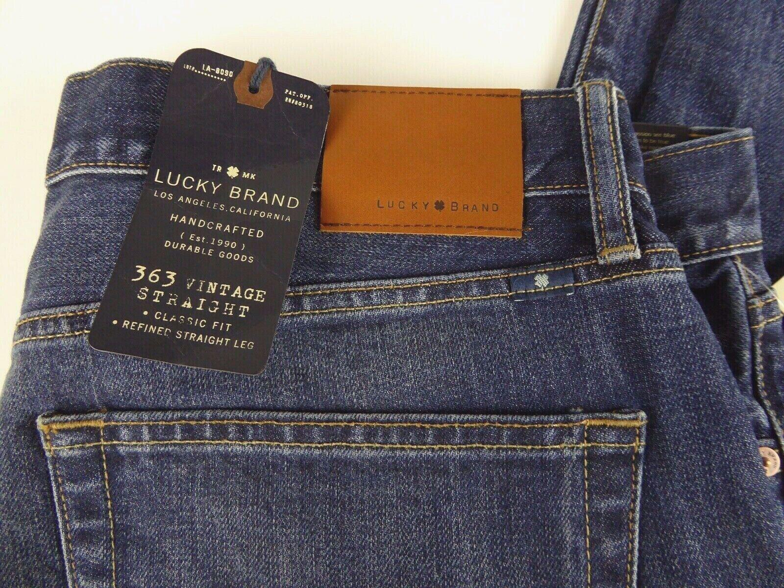 Lucky Brand 363 Vintage Denim Coupe Droite En Coton Stretch Neuf avec étiquettes  99 coupe droite