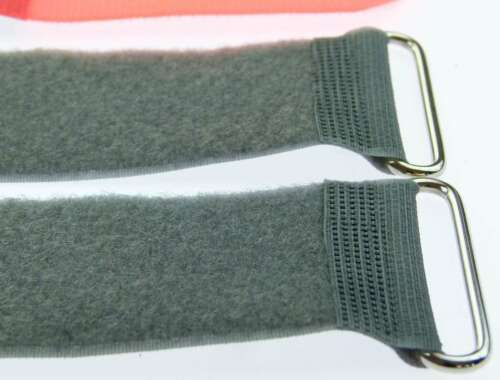 40 x Klettband Kabelbinder FK 50 cm x 50 mm neon rot Klettbänder Kabelklettband
