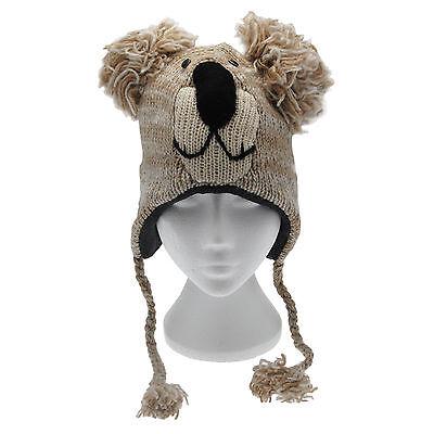 Divertente Koala Fatto A Mano Inverno Lana Animale Cappello Fodera In Pile Taglia Unica, Unisex-mostra Il Titolo Originale Meno Caro