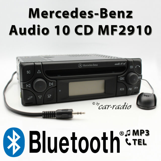 Mercedes Audio 10 CD MF2910 MP3 Bluetooth Con Micrófono Aux-In Sin Cd-Funktion