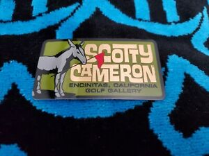 Scotty Cameron Gallery JACK The DONKEY  PINFLAG Sticker Olive Gallery Release