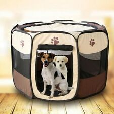 Portable Dog Pen Indoor Pet Small Puppy Playpen Folding Cat Tent Travel  Safe Bed