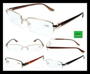 Men-039-s-Women-039-s-Unisex-Semi-Rimless-Metal-amp-Plastic-frame-Readers-Reading-Glasses