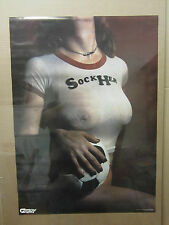 vintage Sock Her 1979 soccer Hot Girl Poster car garage man cave 1671