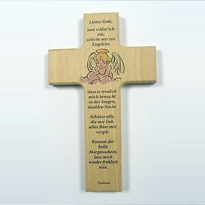 Kinderkreuz, Engel - Segensspruch zur Geburt, Taufe, Kommunion #13495820