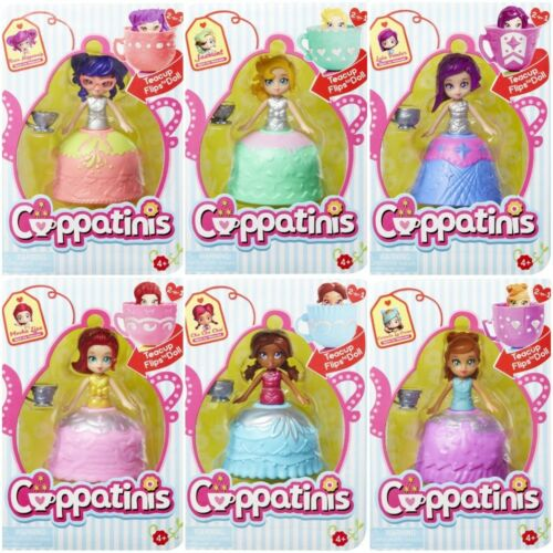 CUPPATINIS TEACUP FLIPS TO DOLL ASSORTMENT SET 6