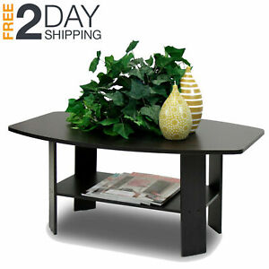 Details about Coffee Table For Small Spaces Home Office Living Room  Apartment Round Espresso