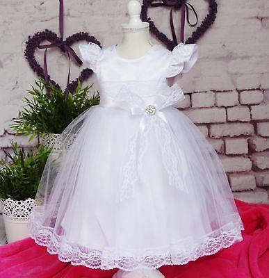 Gentile ♥ Principessa Un Battesimo Con Nastro Frontale Set 2tlg 56-98 Qualità Top- Vivace E Grande Nello Stile