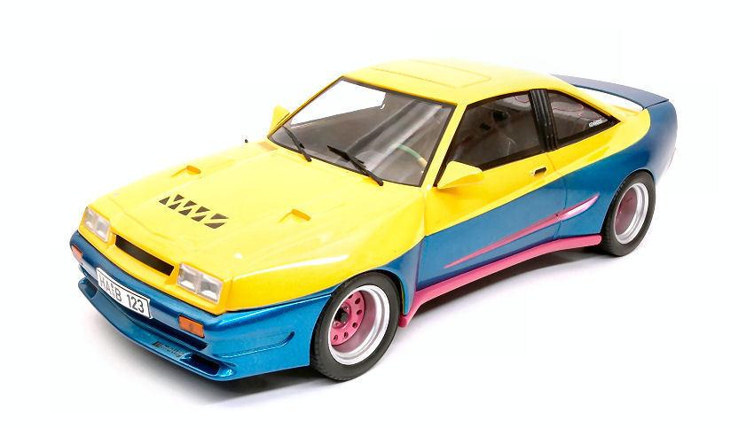 Opel Manta B Matting Yellow   bluee bluee bluee 1 18 Model MODELCARGROUP 83d193