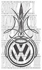VW PINSTRIPE GOLF BORA SHARAN POLO LUPO PASSAT T2 T25 T4 T5 decal sticker vinyl
