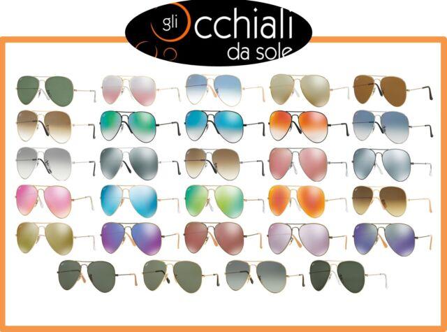 Occhiali da Sole RayBan 3025 Goccia Tutti Colori,Sunglasses Ray Ban Large Metal