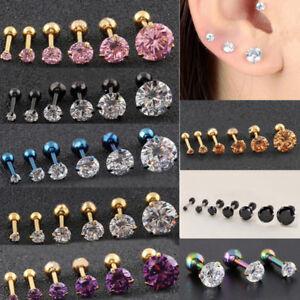 852676e59 Image is loading 1PC-Women-Claws-Zircon-Earrings-Ear-Stud-Titanium-