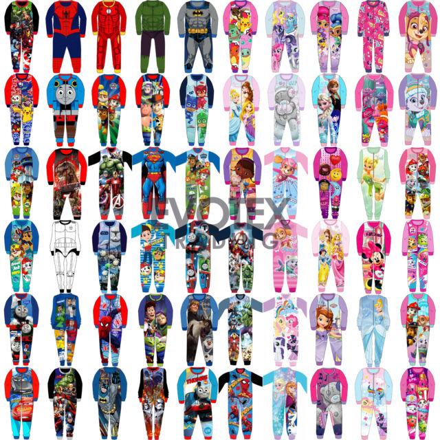 Enfants Tout en un garçons filles polaire personnage enfant Pyjama Âge 1-10 Ans