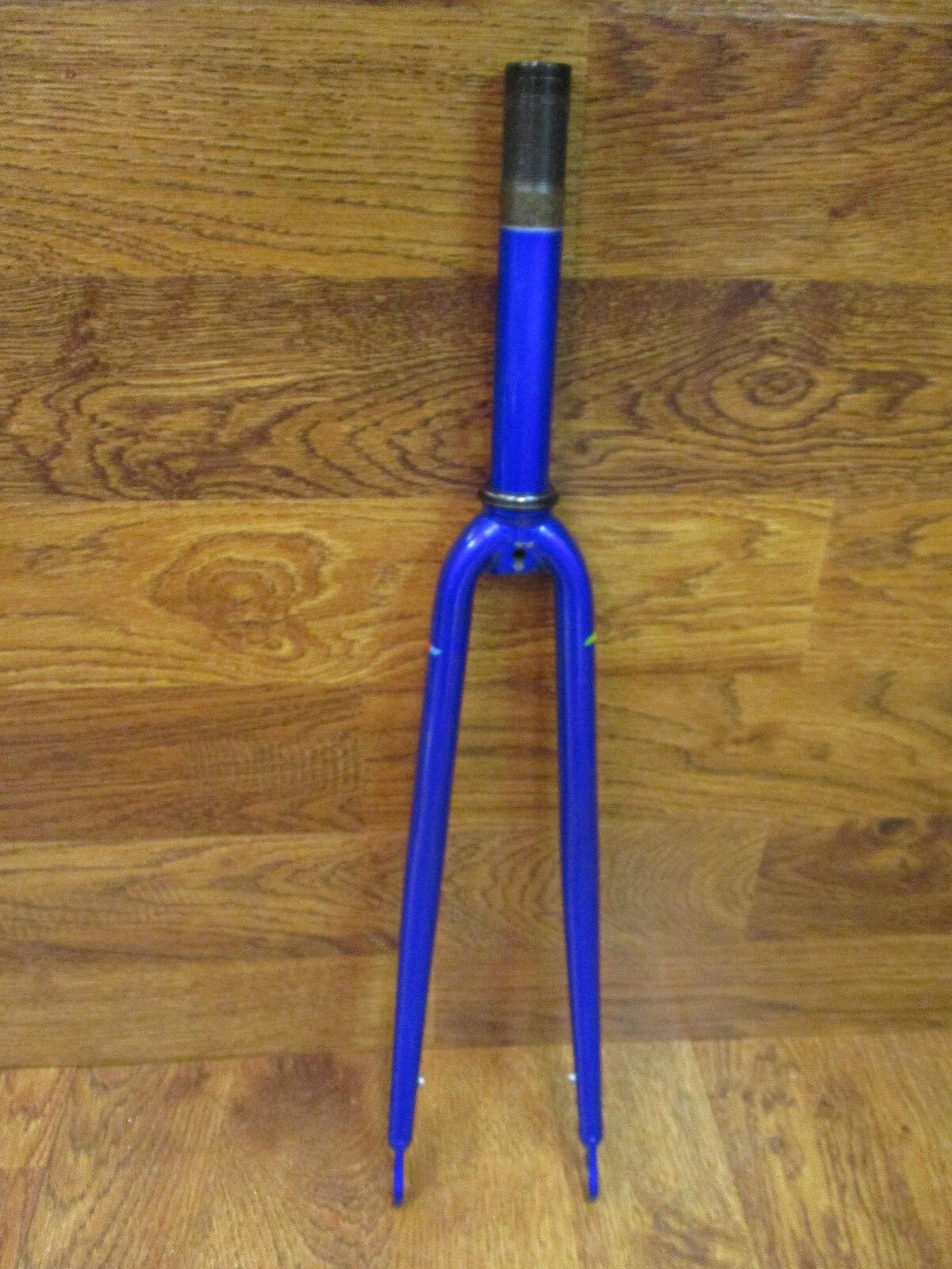 VINTAGE SCHWINN PARAMOUNT 1  x 6 1 2  THREADED 700 STEEL FORK - blueE