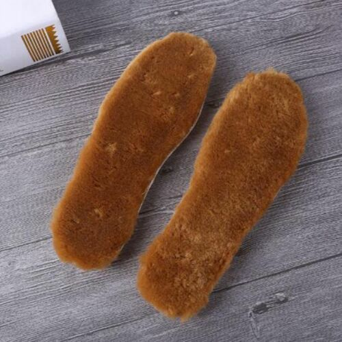 Unisex Warm Sheepskin Lambswool Thick Thermal Shoe Boots Insoles Inner Soles