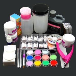 complete acrylic nail art kit 120ml acrylic liquid 12