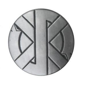 Crass Logo Punk Symbol Pin Badge