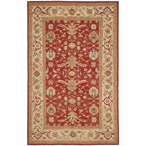 Safavieh Chelsea Red Ivory Wool Area Rug 6 X 9 689366955997 Ebay