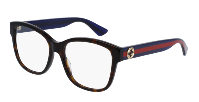 Authentic Gucci Gg0038o 003 Havana Blue Eyewear Eyeglasses | eBay