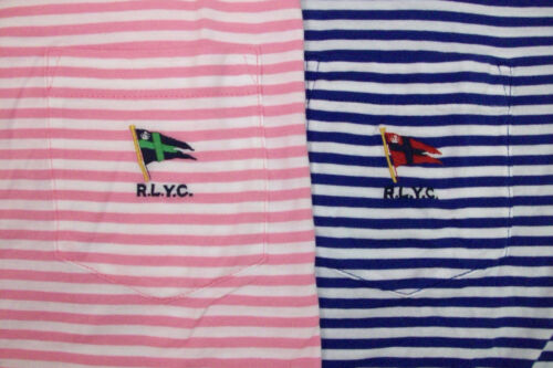 Polo Ralph Lauren Striped Cotton Jersey Shirt $79  Yacht Club Flag w// Pocket NWT