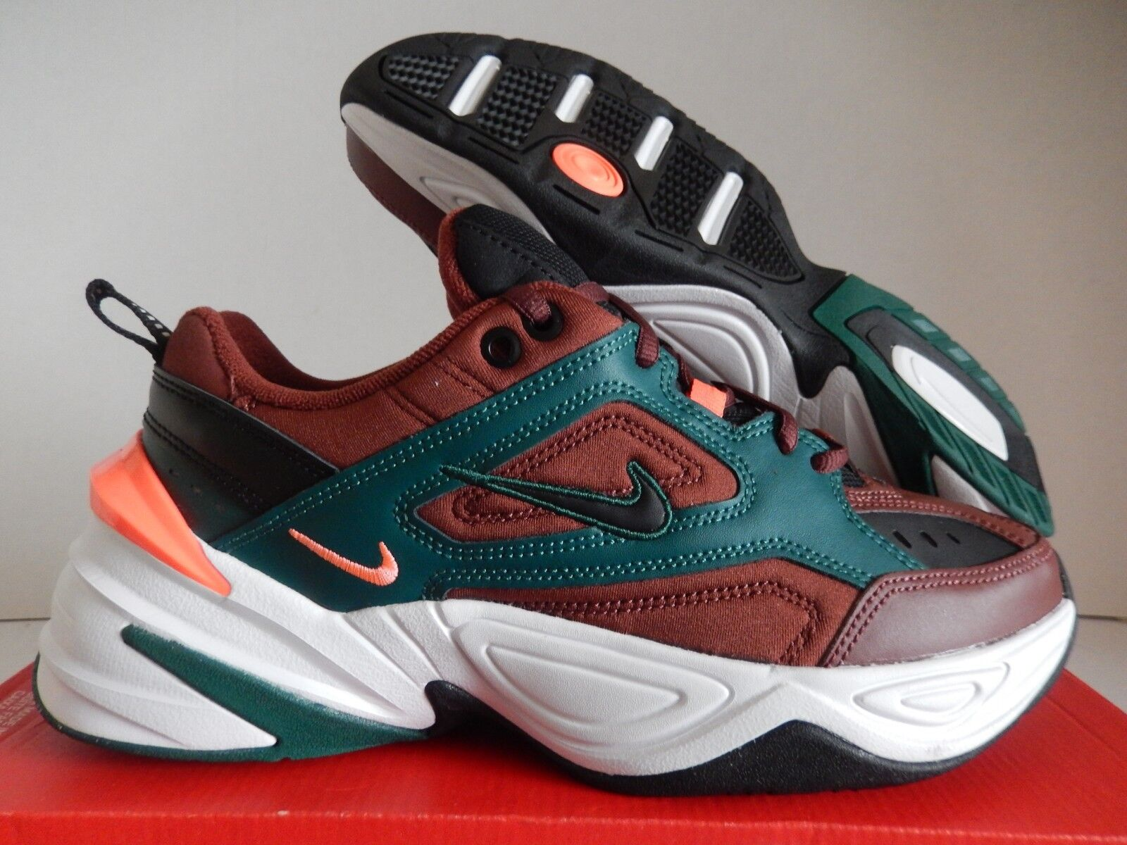 MENS NIKE M2K TEKNO MONARCH RUNNING PUEBLO BROWN-BLACK SZ 7 [AV4789-200]